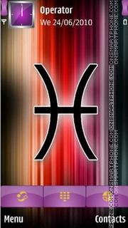 Pisces Zodiac Sign es el tema de pantalla