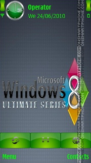 Windows 8 Ultimate es el tema de pantalla