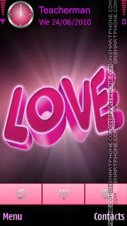 Pink Love theme screenshot