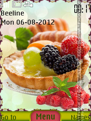 Cake with fruit tema screenshot