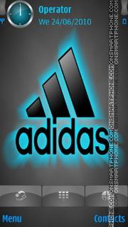 Скриншот темы Addidas Neon Logo