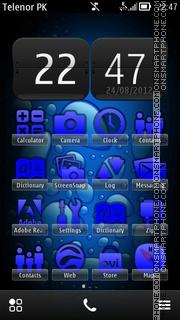 Скриншот темы Blue Bubbles