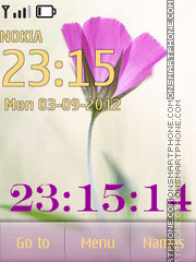 Tender flower with a clock theme screenshot
