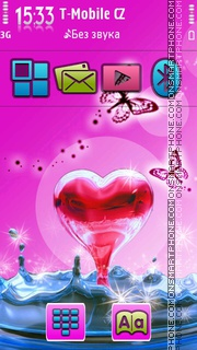 Heart in the Water tema screenshot