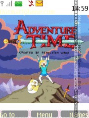 Adventure Time Fionna And Cake theme screenshot