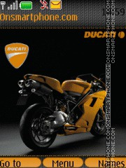 Ducati Bike theme screenshot