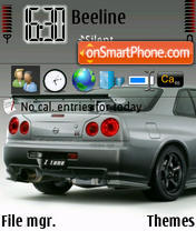 Nissan Skyline GT-R theme screenshot