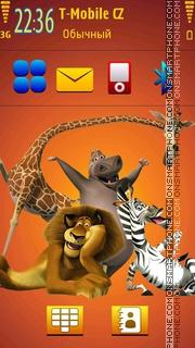 Скриншот темы Madagascar