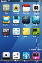 Realize Aqua theme screenshot