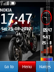 Red Ducatti theme screenshot
