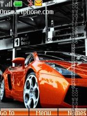 Orange Lamborghini theme screenshot