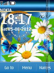 Butterfly Dual Clock theme screenshot