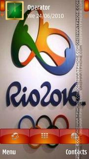 Rio 2016 logo es el tema de pantalla