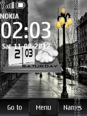 Street Clock theme screenshot