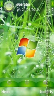 Windows In Grass es el tema de pantalla