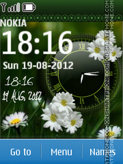 Flower Dual Clock 03 theme screenshot