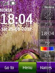 Скриншот темы Park SWF Clock