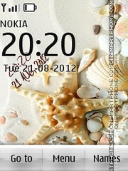 Sea Shells Digital theme screenshot