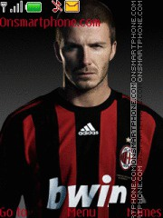 David Beckham theme screenshot