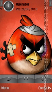 Red Angry Bird es el tema de pantalla