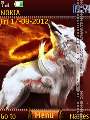 Fire wolf tema screenshot