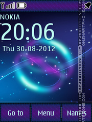Violet Abstract tema screenshot