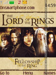 The Lord of the Rings - The Fellowship of the Ring es el tema de pantalla