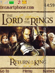 The Lord of the Rings - The Return of the King es el tema de pantalla