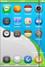 Smurfs 04 theme screenshot