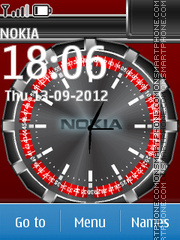 Nokia Digital Clock 02 theme screenshot