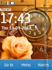 Capture d'écran Tender Rose Dual Clock thème
