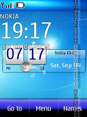 Blue Clock 06 theme screenshot