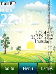Sunrise Digital theme screenshot