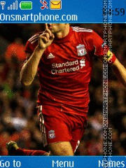 Steven Gerrard theme screenshot