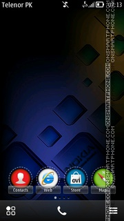 Nighty Nokia theme screenshot