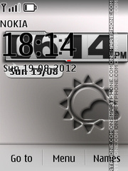 Afterimage Clock tema screenshot