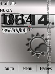 Afterimage Clock theme screenshot