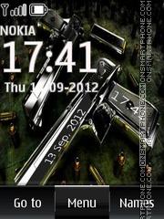 Gun Digital Clock es el tema de pantalla
