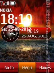 Sunset Dual Clock 01 theme screenshot