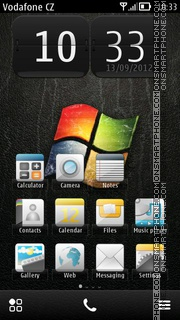 Black Windows 01 theme screenshot
