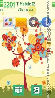Romantic Spring theme screenshot