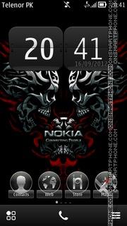 Skull Nokia theme screenshot