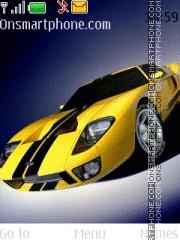 Yellow Drift tema screenshot