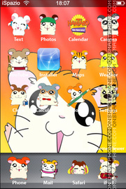 Hamtaro iPhone Mod theme screenshot
