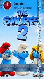 Скриншот темы The Smurfs