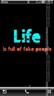 Capture d'écran Life - Fake thème