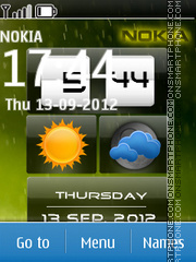 Rainy Nokia theme screenshot