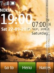 Sky Digital Clock theme screenshot