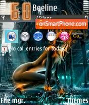 Girl On The Fire2 theme screenshot