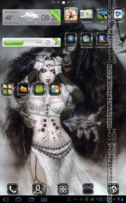 Royo Fantasy theme screenshot